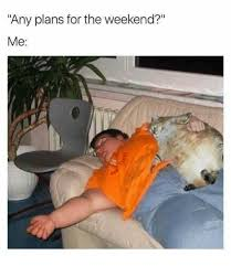 Funny Weekend Meme - any plans for the weekend me funny meme on me me
