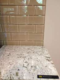 Limestone Backsplash Kitchen The Winner American Olean Dune Subway Bricks And Cambria