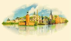 watercolor stockholm vector vector architecture free download