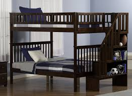 Columbia Full Over Full Bunk Bed by Amazon Com Woodland Staircase Bunk Bed Antique Walnut Full Over