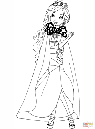 ever after high legacy day apple coloring page free printable