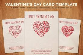 simple valentine u0027s day card template card templates creative