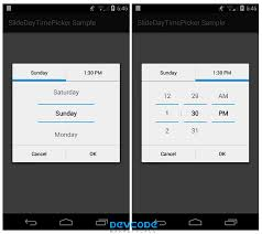 timepicker android slide day time picker android app source code