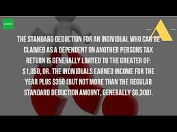 what is the minimum standard deduction for 1040ez youtube