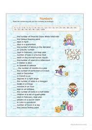 111 free esl numbers cardinal numbers worksheets