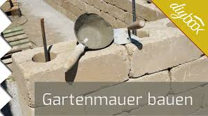 gartenmauer selber bauen die betonsteinmauer youtube