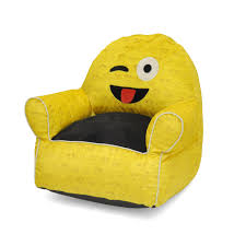Personalized Toddler Rocking Chair Chairs Kids Novelty Chair 100 Polyester Emoji Pals In Tounge Wink