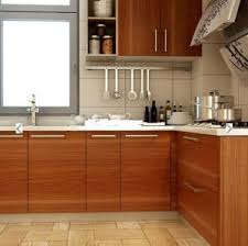 New Laminate MDF Beech Wood Kitchen Cabinet ZHUV China - Kitchen cabinets wooden