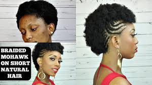 crochet hair mohawk pattern how to braided mohawk tutorial on short natural hair youtube