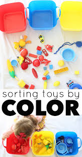 sorting toys by color activity for toddlers i can teach my child