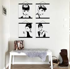 mild art celebrity abstract audrey hepburn set black white pop