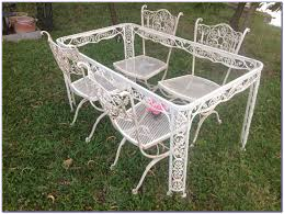 vintage wrought iron patio furniture cushions patios home