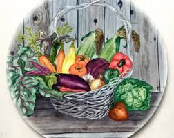 vegetable basket etsy