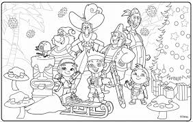 disney junior christmas coloring pages draw background disney