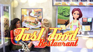 diy how to make doll fast food restaurant handmade crafts