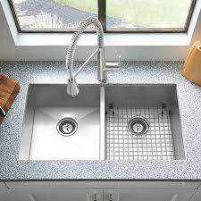 Edgewater X Double Bowl Stainless Steel Kitchen Sink - American kitchen sinks