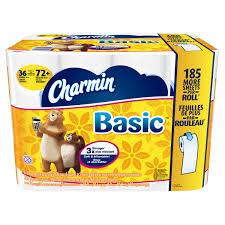 Charmin Bathroom Charmin Basic Toilet Paper White 36 Double Rolls Jet Com