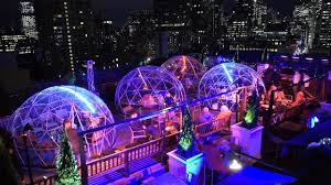 Roof Top Bars In Nyc 230 Fifth U0027s Rooftop Igloos Youtube