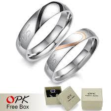 love promise rings images 2 rings free box real love 316l stainless steel half heart jpg
