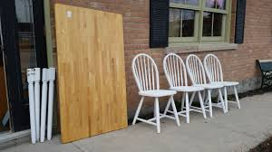 very practical attractive table with matching chairs collingwood