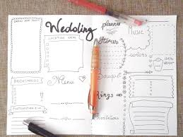 wedding planner agenda wedding planner journal wedding ideas agenda diary diy planner