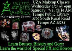 makeup classes arizona free uza makeup workshop wednesday 6 24 6pm saturday 7 11 10