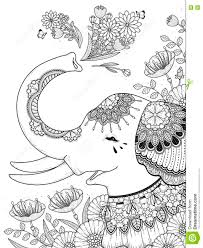 gorgeous elephant coloring page stock illustration image 71659162