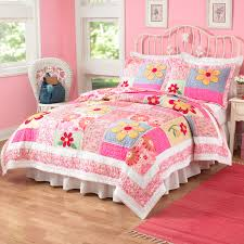 ruffle girls bedding bedding set dusty pink bedding set with floral and ruffle