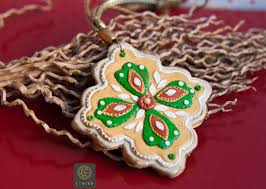 polymer clay home decor clay vintage christmas tree ornaments