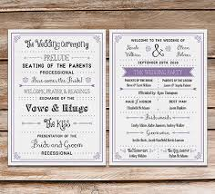 diy wedding program strikingly wedding programs diy attractive free printable