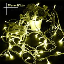 Outdoor Twinkle Lights by New 10m 100 Led Party Led Christmas Lights Outdoor Wedding