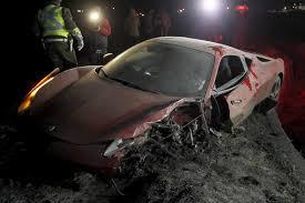 arturo vidal car crash a red ferrari belonging to vidal is seen