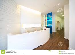 lit reception area in dental clinic royalty free stock photos