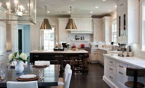 Visual Comforts Lighting Two Tone Kitchen Cabinets Transitional Kitchen Peacock Cabinetry