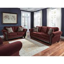 chesterbrook burgundy sofa 8810238 signature design by ashley