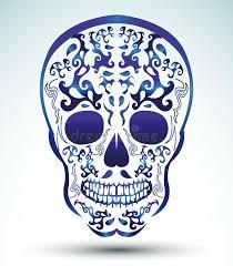 day of the dead skull skull stock vector illustration