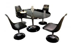 chromcraft dining set tulip base modernism