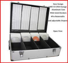 1000 cd dvd silver aluminum media storage case mess free holder