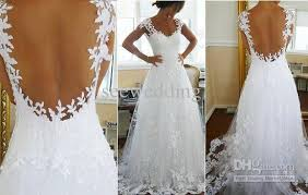 backless lace wedding dresses shoesthystyl lace backless wedding dresses 2013 images