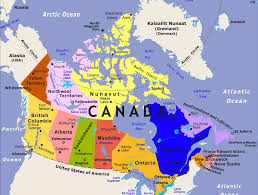 states canada map map of states of canada major tourist attractions maps