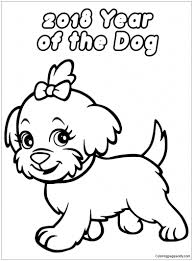 coloring page of a big dog dog coloring pages chinese new year page free online ribsvigyapan