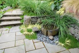 iris garden design landscape contemporary with stone path tall