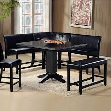 black dining room set wow 30 space saving corner breakfast nook furniture sets 2018