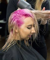 colored pink roots how to dye your hair