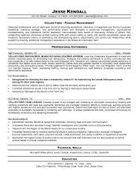 Sample Resume For Supervisor by Free Collections Supervisor Resume Example