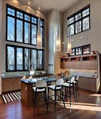 decorations inspiring high ceiling lighting for modern kitchen