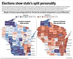 County Map Wisconsin by Wisconsin U0027s Red Blue Swings Offer A Map To Victory For Each Party