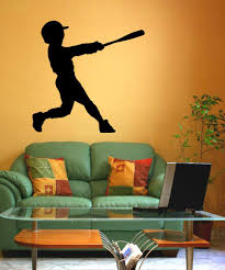 sports wall stickers sports decals for walls stickerbrand vinyl wall decal sticker little league batter os mb589
