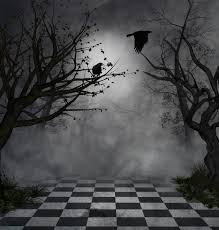 halloween backdrop photography halloween backdrop black bird trees scary enchanted forest