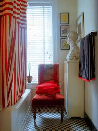 Red And White Striped Curtain Painting Box Yipes Stripes